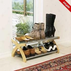 Обувница напольная двухярусная