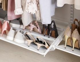 Висувна меш-полиця для взуття, ширіна 600мм